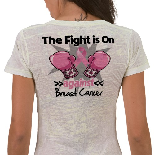 the fight is on against cancer motto on shirts and gifts