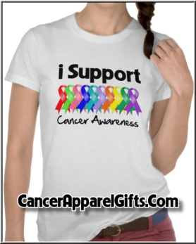 I Support Cancer Awareness Shirts by cancerapparel.com