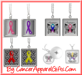 Shop an array of cancer awareness ribbon necklaces at CancerApparelGifts.Com