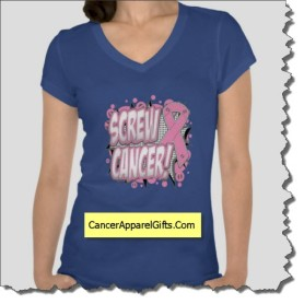Funny Screw Cancer Shirts from cancerapparelgifts.com