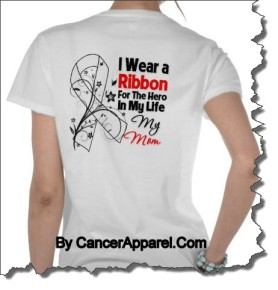 I Wear a Ribbon For The Hero In My Life Cancer Awareness Ribbon Shirts