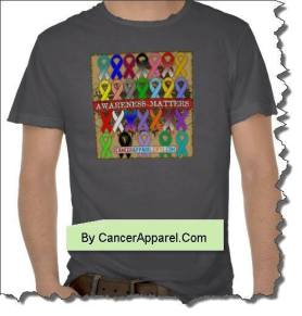 Cancer Awareness Matters Colorful Ribbon Shirts and Gifts