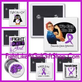 Pancreatic Cancer Fight Like a Girl Buttons, Gifts and Merchandise