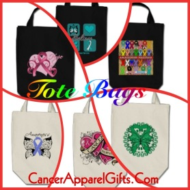 Cancer Awareness Tote Bags